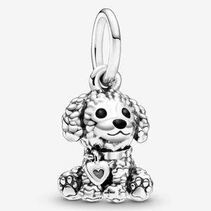 📿Pandora  Poodle Puppy Dog Dangle Charm